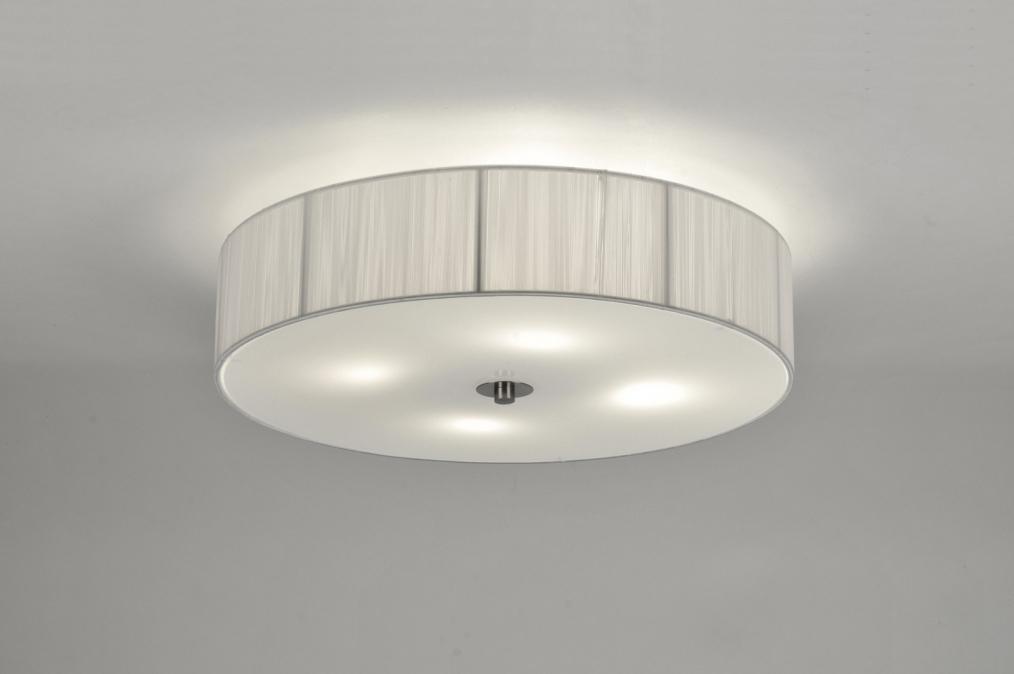 Plafondlamp 71345: Modern, Eigentijds Klassiek, Retro, Wit