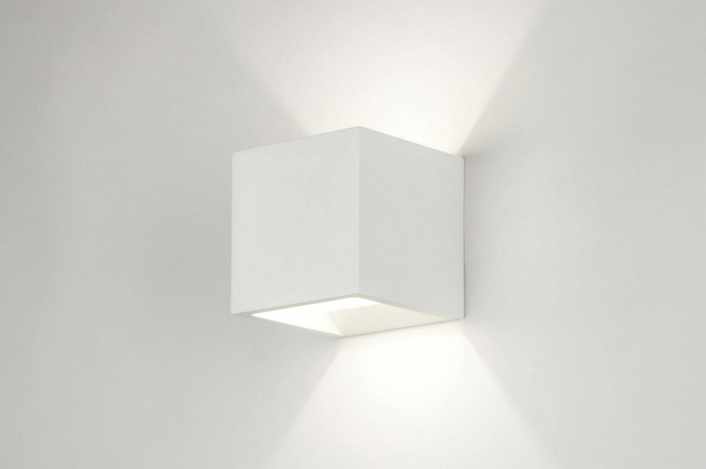 Wandlamp 71350: modern, landelijk, rustiek, wit #0