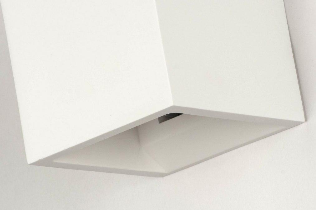 applique murale 71350 moderne rural rustique blanc mat. Black Bedroom Furniture Sets. Home Design Ideas