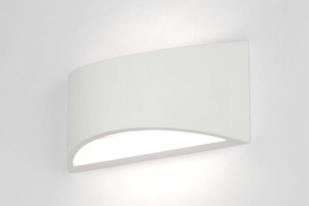 Wandlamp 71358: modern, eigentijds klassiek, keramiek, wit #0
