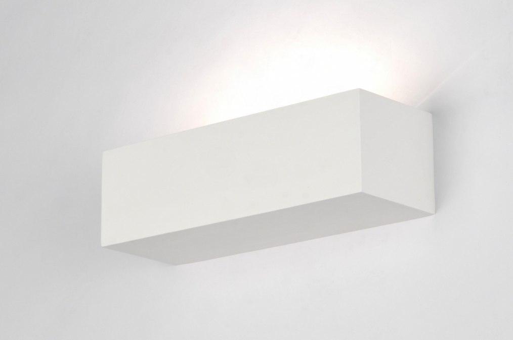 Wandlamp 71360: modern, eigentijds klassiek, keramiek, wit #0