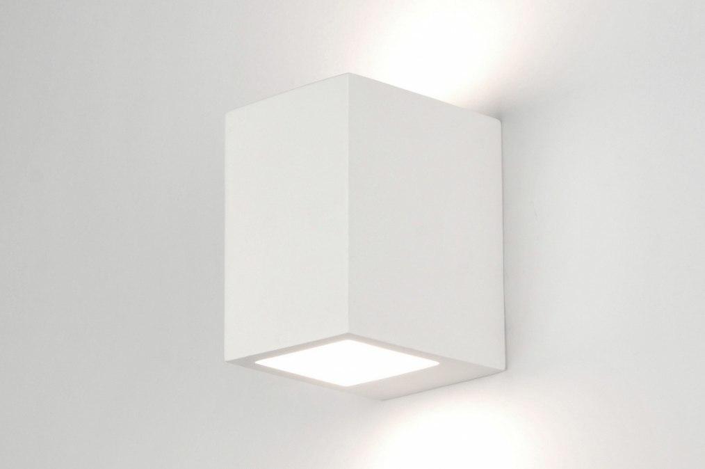 Wandlamp 71363: modern, landelijk, rustiek, wit #0