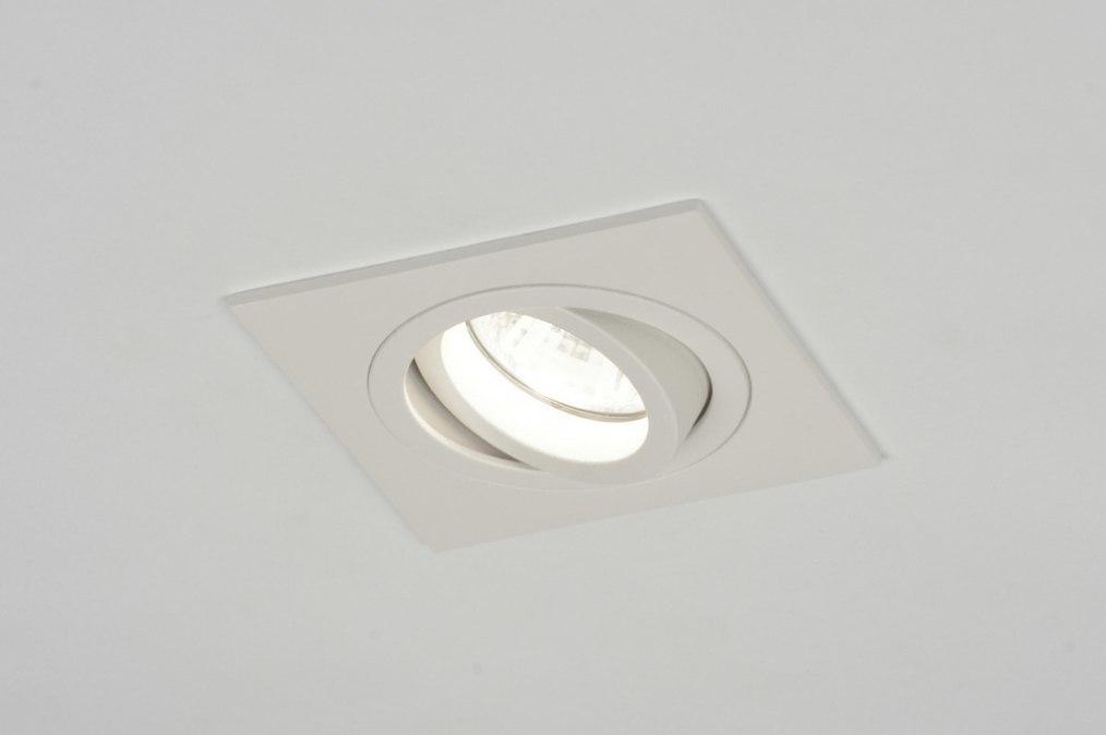 Inbouwspot 71402: modern, aluminium, metaal, wit #0