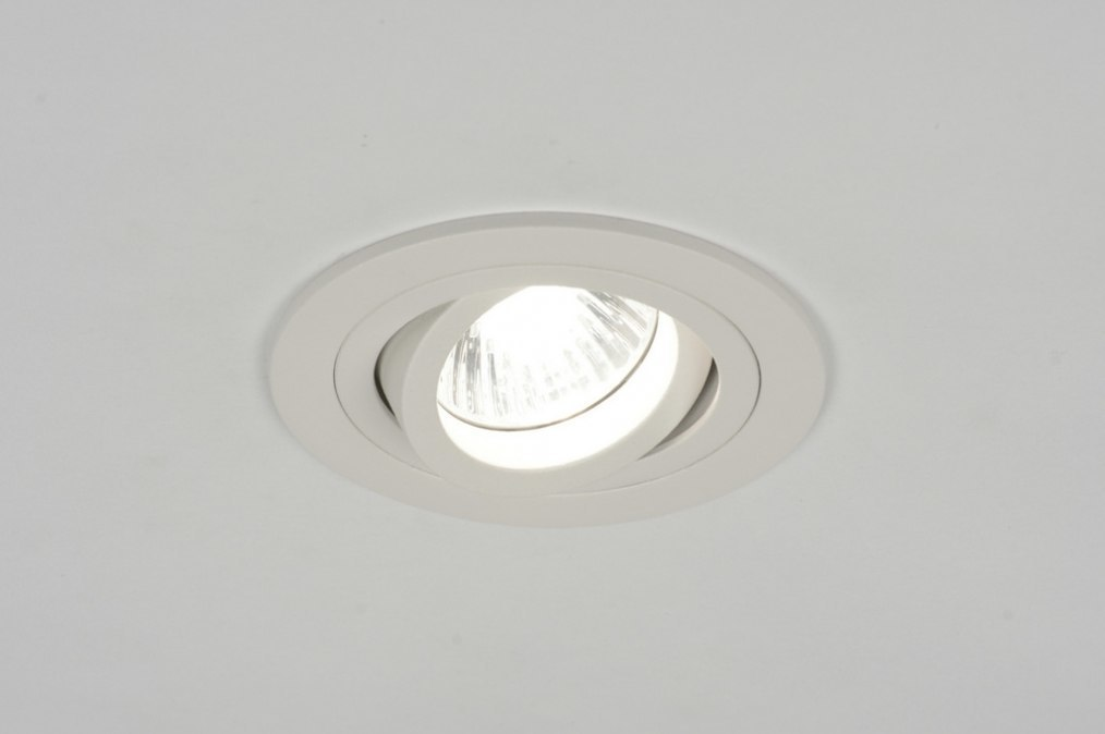 Recessed spotlight 71403: modern, aluminium, metal, white #0