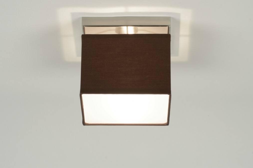 Deckenleuchte 71460 modern braun stoff viereckig for Deckenleuchte braun