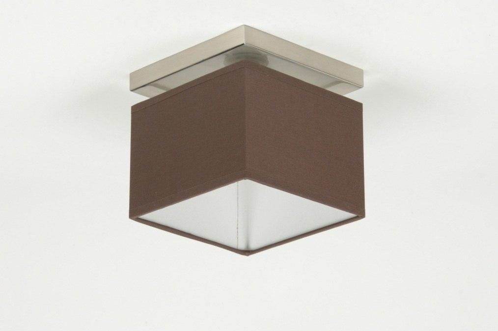 deckenleuchte 71460 modern braun stoff viereckig. Black Bedroom Furniture Sets. Home Design Ideas