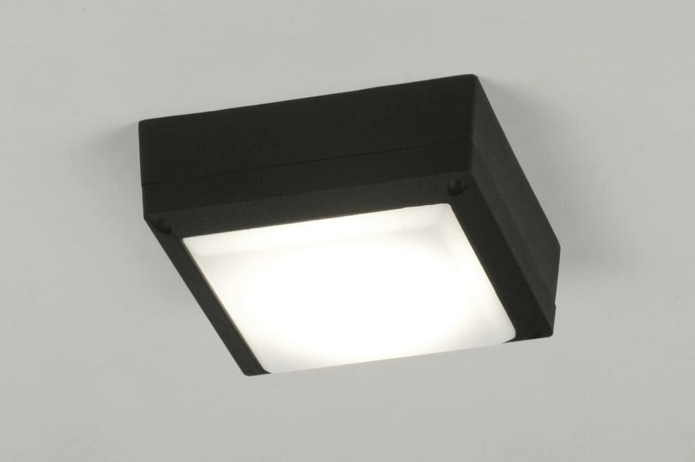 Plafondlamp 71494: modern, zwart, aluminium, kunststof #0