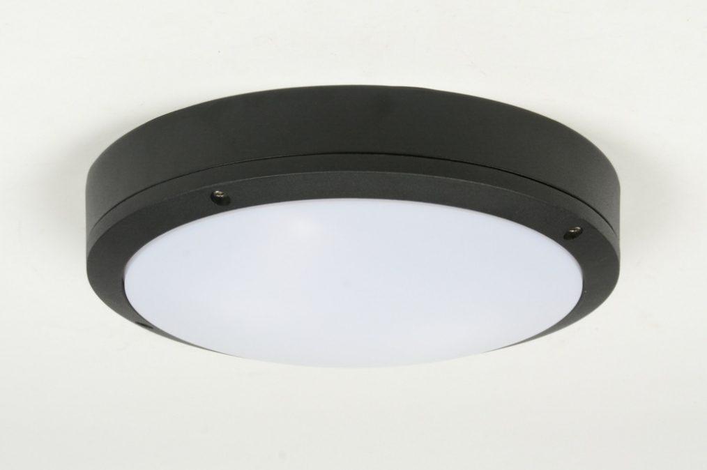 Badkamer Plafondlamp Led : Plafondlamp modern zwart aluminium kunststof