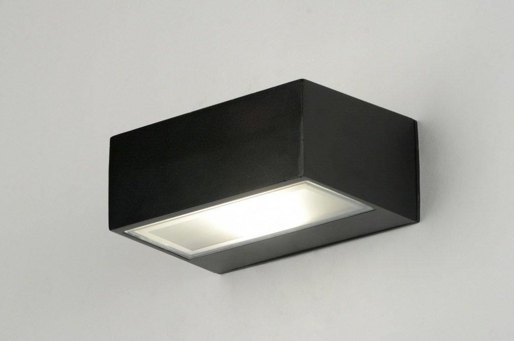 Wandlamp 71510: modern, eigentijds klassiek, zwart, mat #0