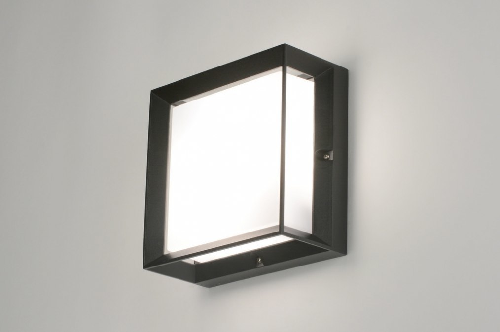 Wall lamp 71518: aluminium, plastic, polycarbonate, black #0