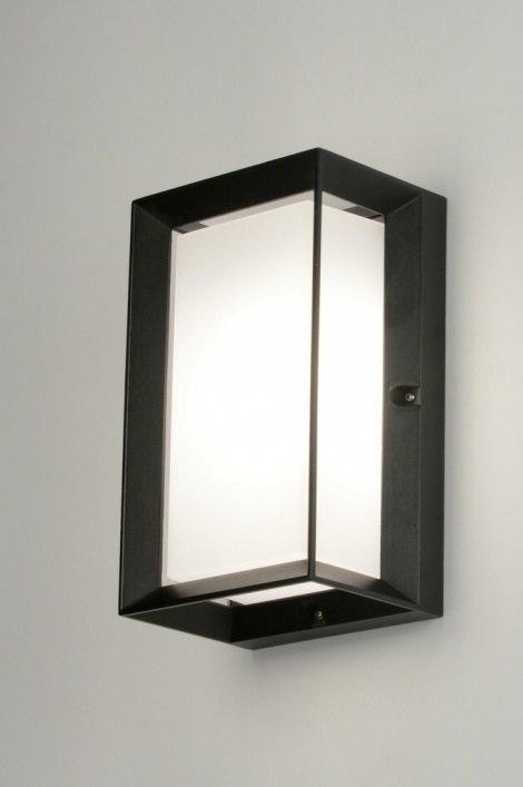 Wandlamp 71520: modern, zwart, mat, aluminium #0