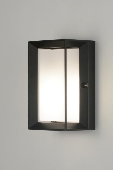 applique murale 71520 moderne noir mat aluminium. Black Bedroom Furniture Sets. Home Design Ideas