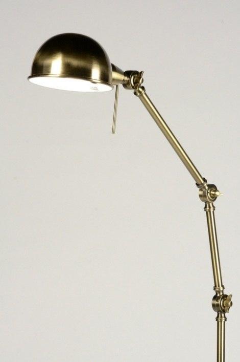 Vloerlamp 71594: landelijk, rustiek, eigentijds klassiek, messing #0
