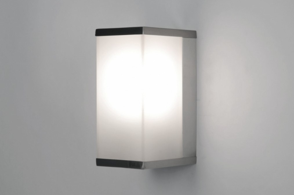 Wall lamp 71654: modern, stainless steel, plastic, rectangular #0