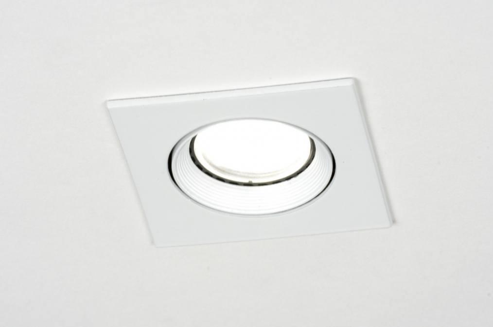 Inbouwspot 71691: modern, wit, mat, metaal #0