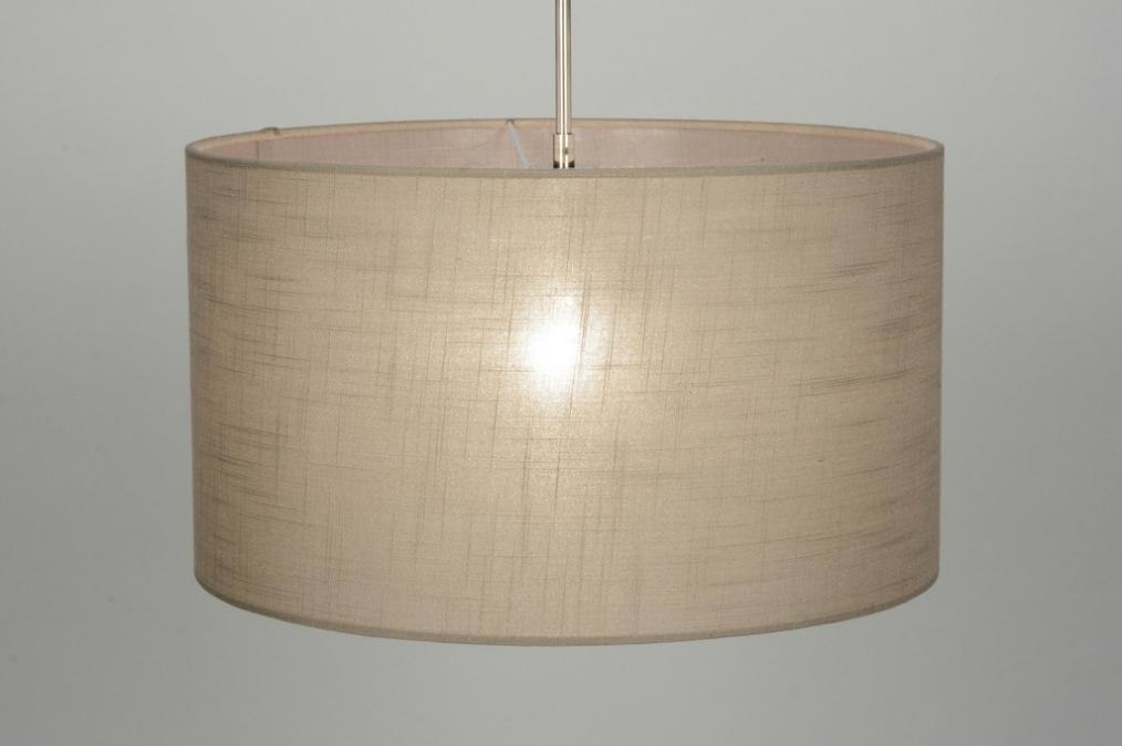 Pendant light 71755: fabric, taupe colored #0