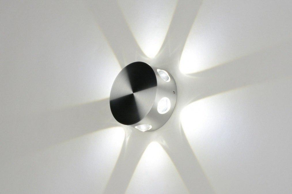 Wandlamp 71760: design, modern, aluminium, geschuurd aluminium #0