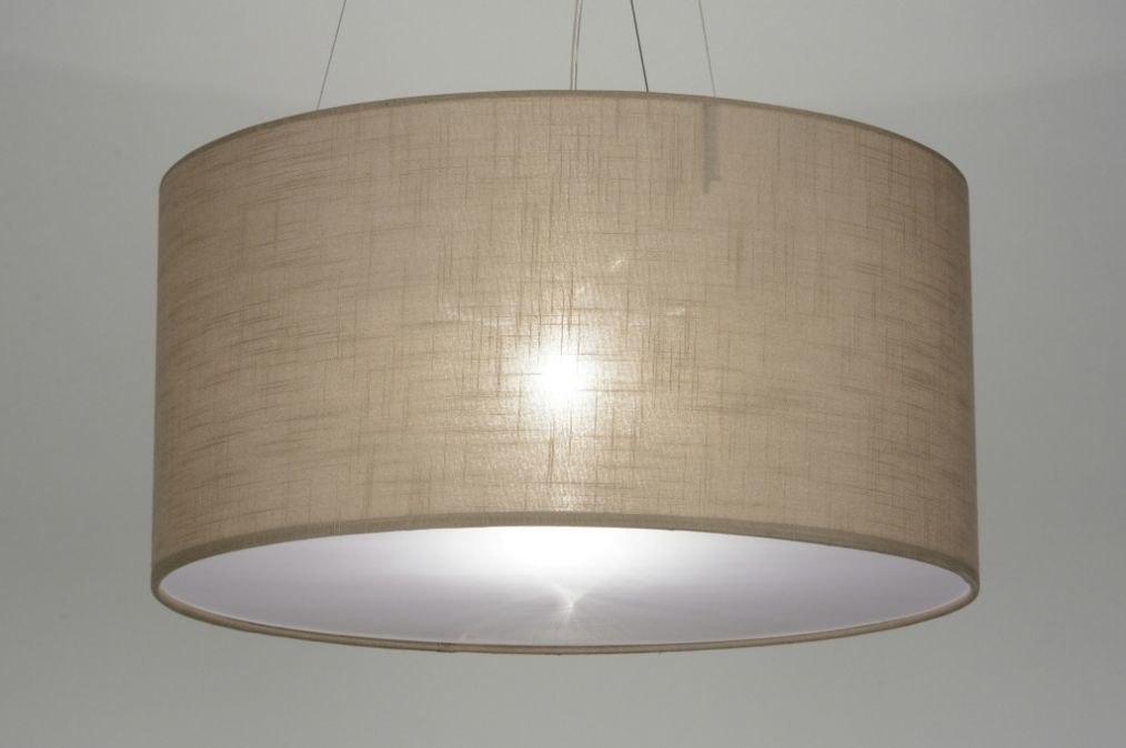 Hanglamp 71766: modern, landelijk, rustiek, taupe #0