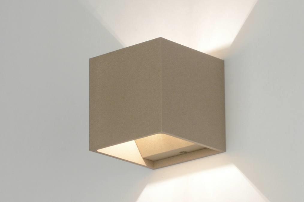 Wandlamp 71785: design, modern, metaal, taupe #0
