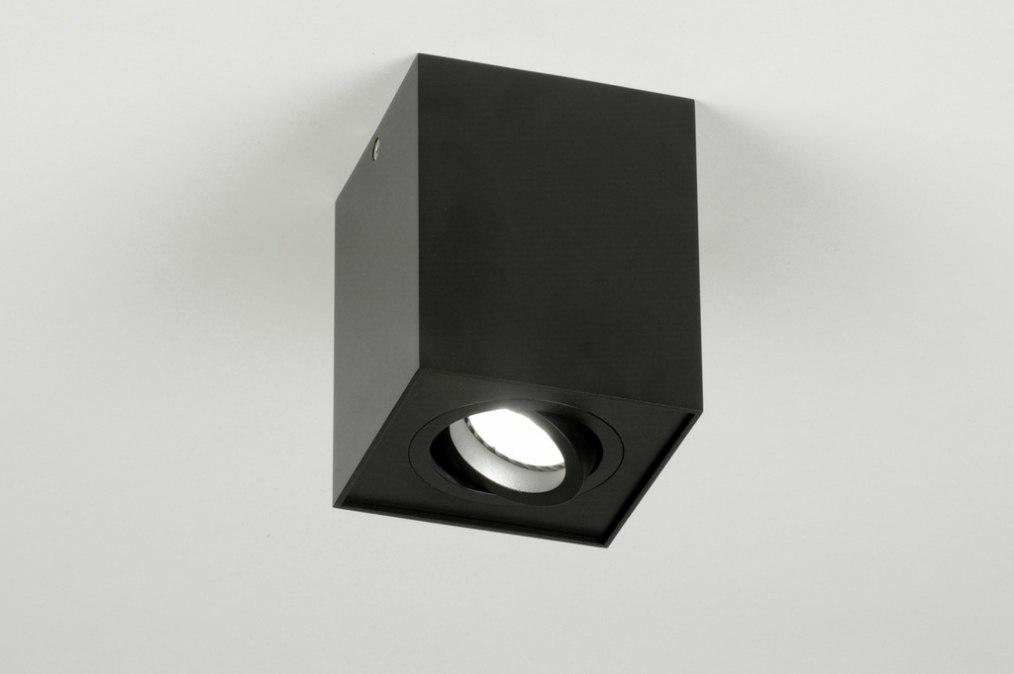 Plafondlamp 71786: modern, design, zwart, mat #0