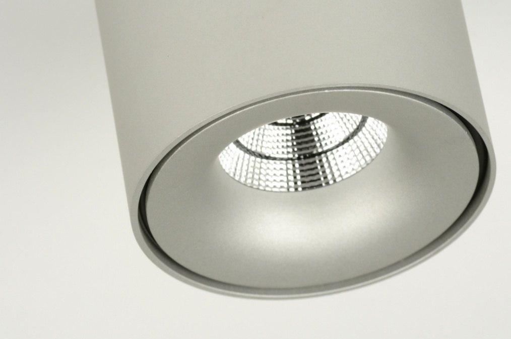 deckenleuchte 71799 modern design aluminium rund. Black Bedroom Furniture Sets. Home Design Ideas
