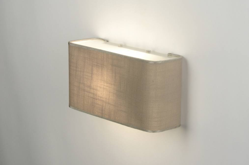 Wall lamp 71804 modern contemporary classical rustic taupe colored - Wall taupe ...
