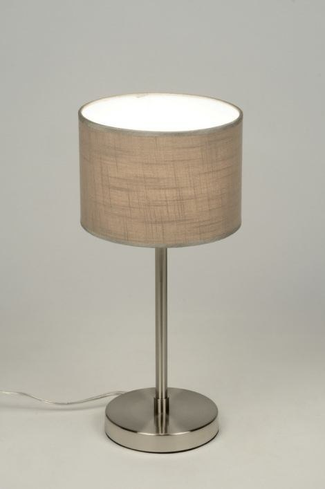 Table lamp 71811: rustic, modern, contemporary classical, stainless steel #0