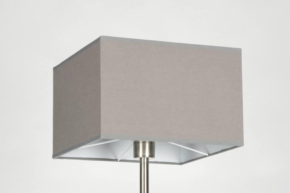 Vloerlamp 71818 modern eigentijds klassiek grijs staal rvs - Eigentijds huis grijs ...