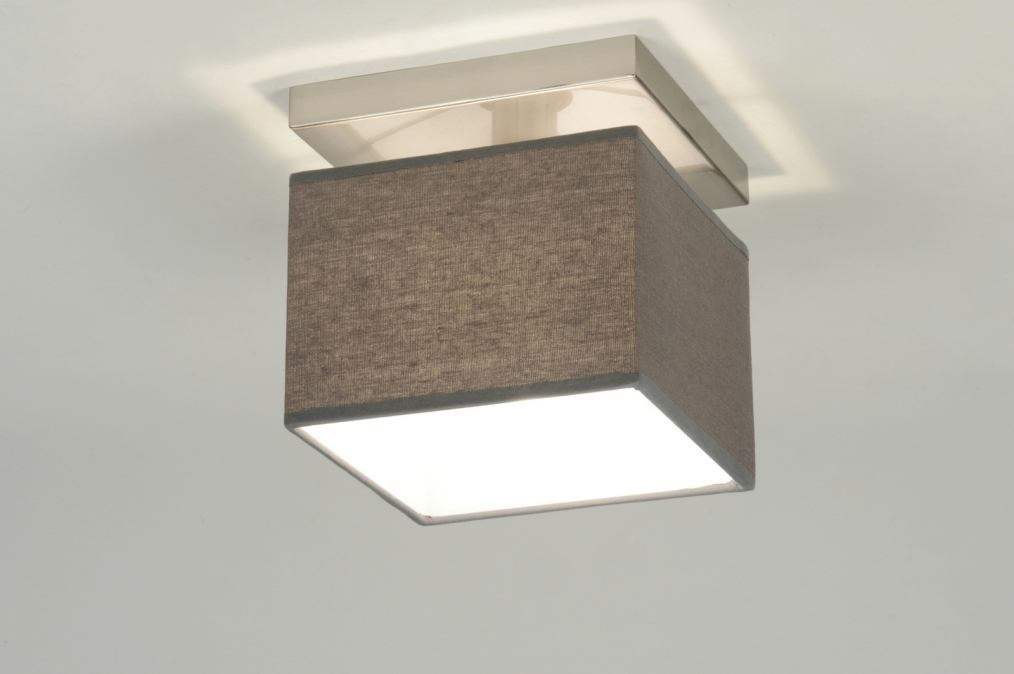 Ceiling lamp 71821: modern, fabric, grey, square #0