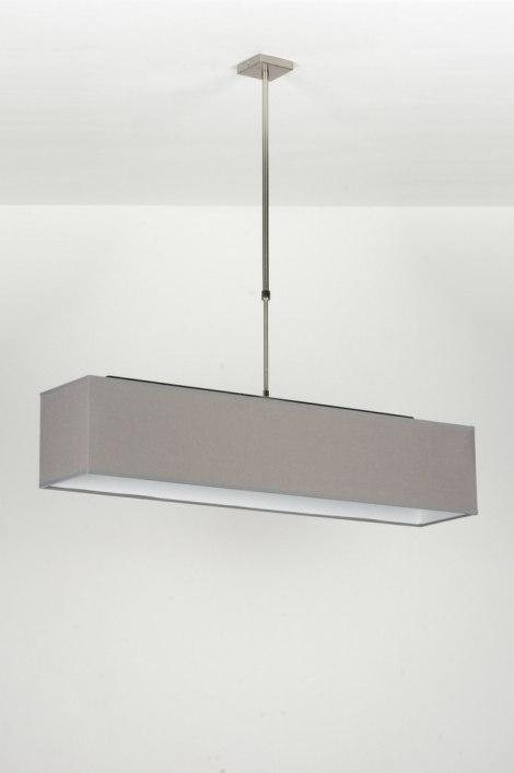 Pendant Light 71824 Rustic Modern Fabric Grey