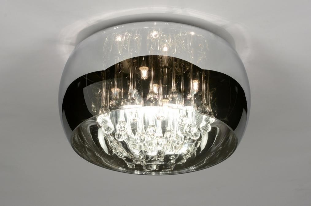 Plafondlamp 71840: landelijk, rustiek, modern, glas #0