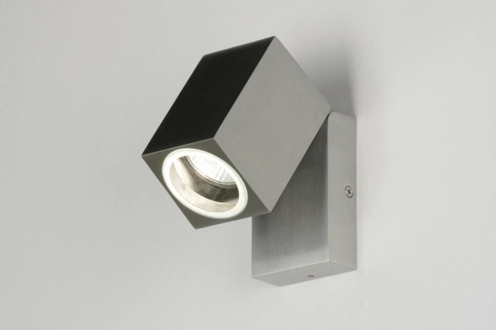 Wall lamp 71900: modern, aluminium, metal, rectangular #0