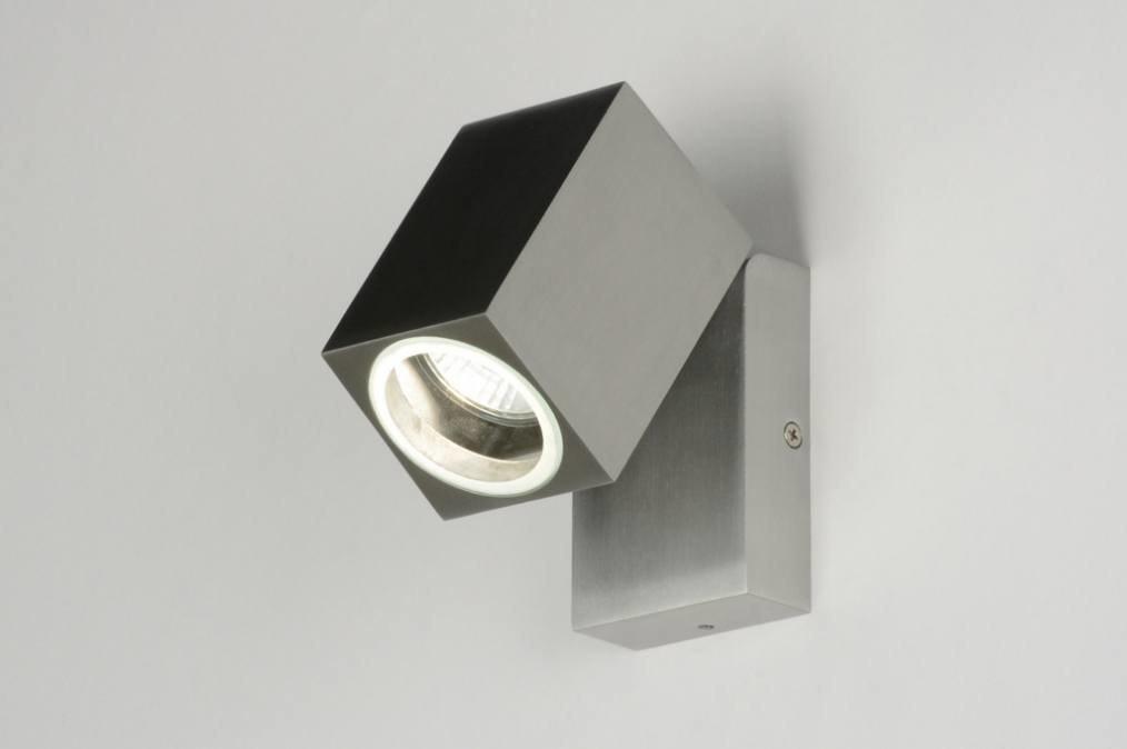 Wandlamp 71900: modern, aluminium, metaal, rechthoekig #0