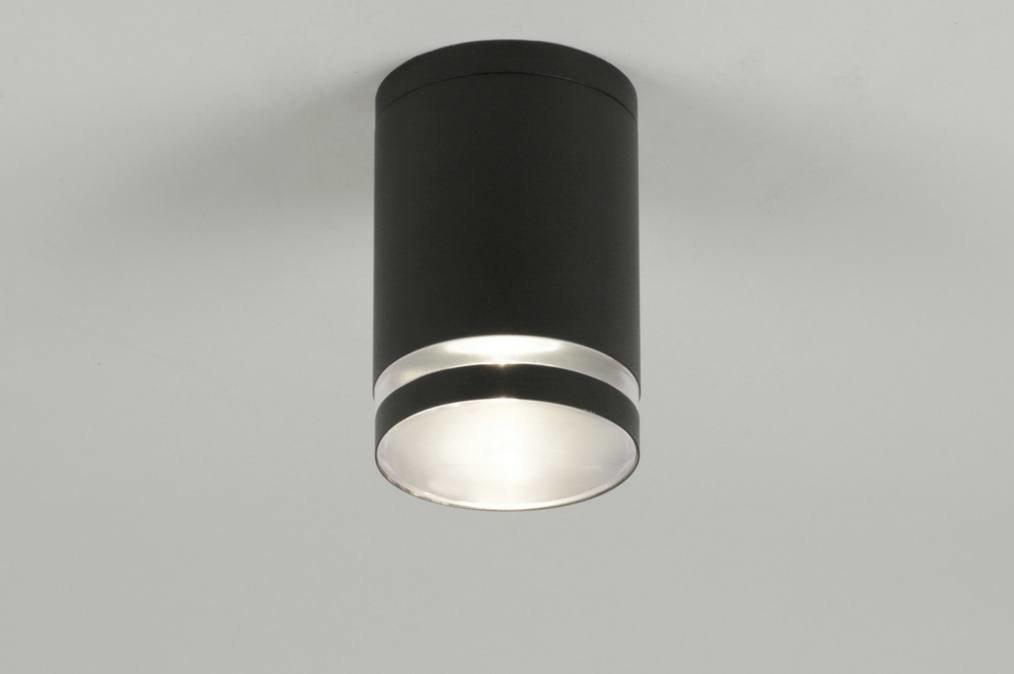 Plafondlamp 71906: modern, design, zwart, mat #0