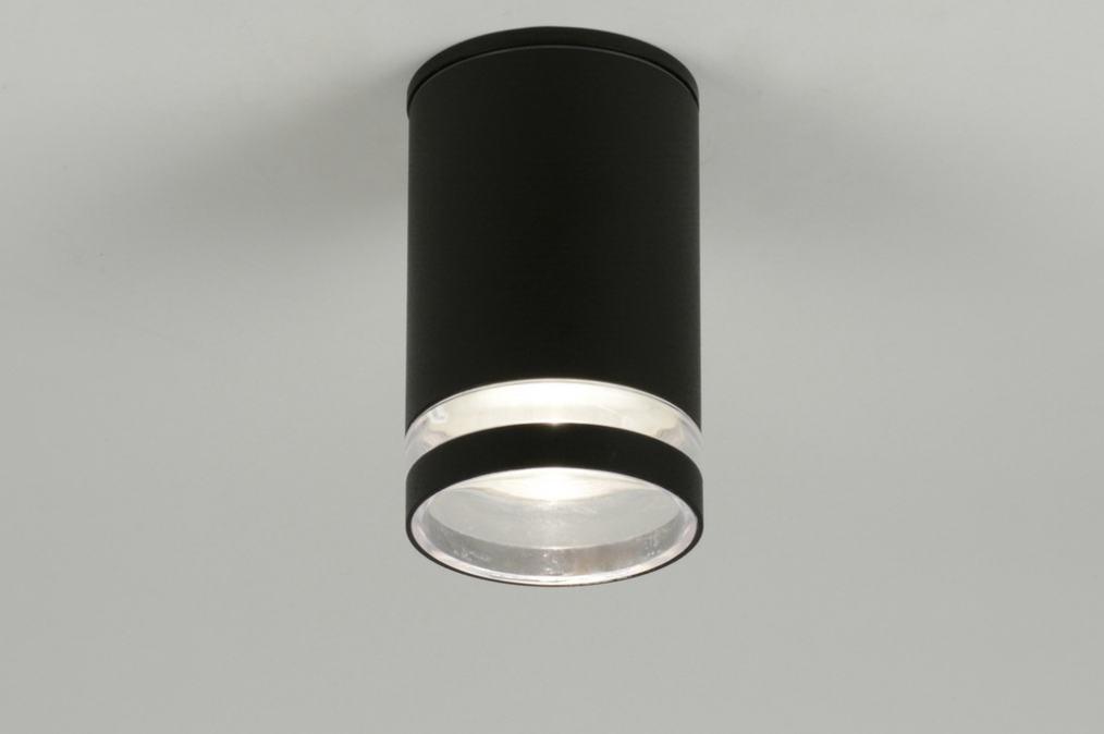 Plafondlamp 71910: modern, design, zwart, mat #0