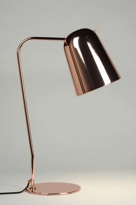 tischleuchte 71960 schnaeppchen modern design kupfer. Black Bedroom Furniture Sets. Home Design Ideas