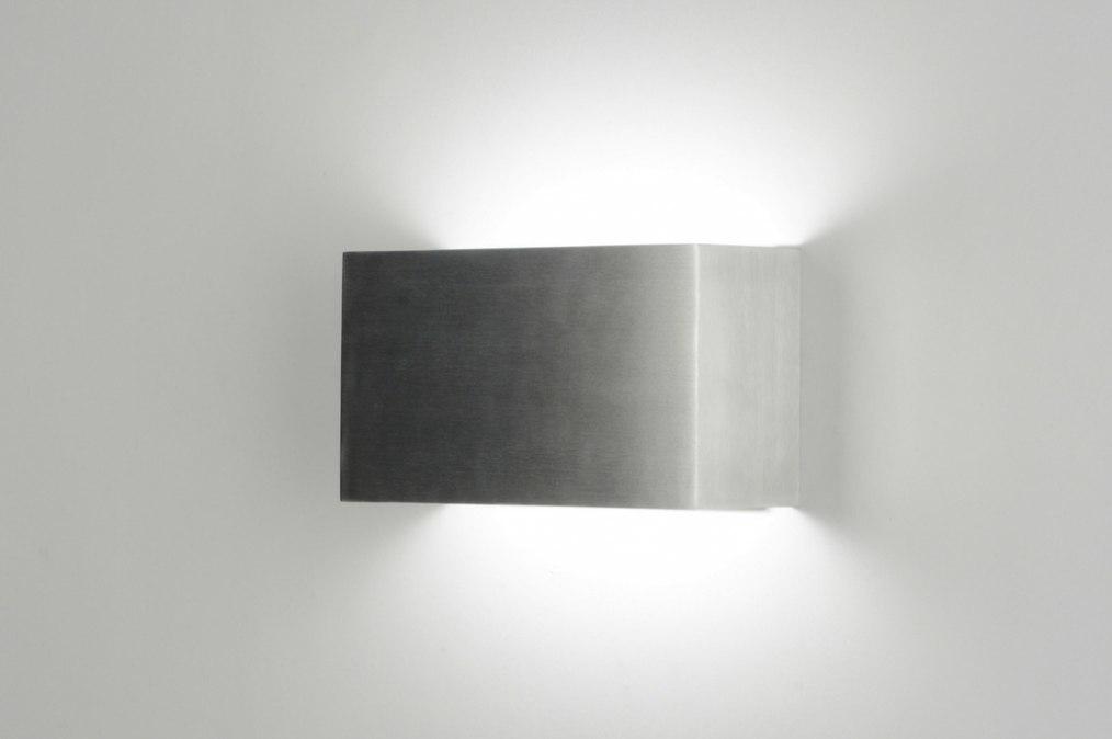 Wandlamp 71970: design, modern, aluminium, metaal #0