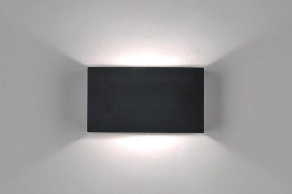 Applique Murale 71972 Moderne Design Noir Mat