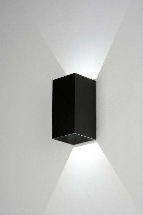 Applique murale 71978 moderne design aluminium noir - Applique murale bureau ...
