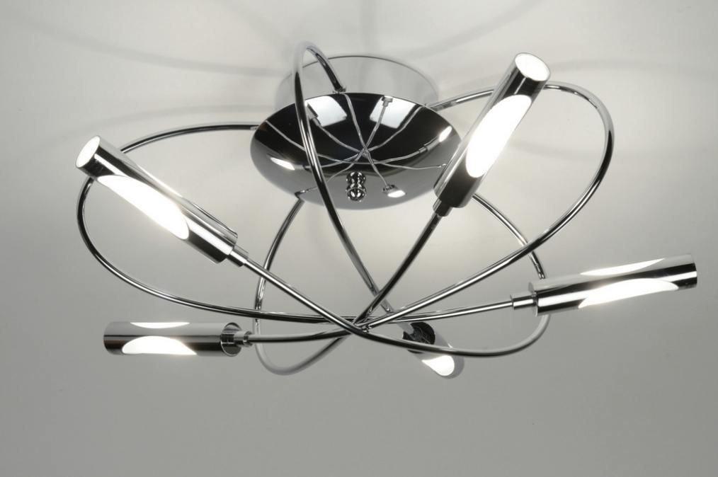 Plafondlamp 71990: modern, eigentijds klassiek, chroom, metaal #0