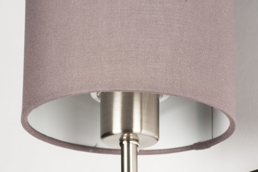 Wandlamp modern eigentijds klassiek stof grijs