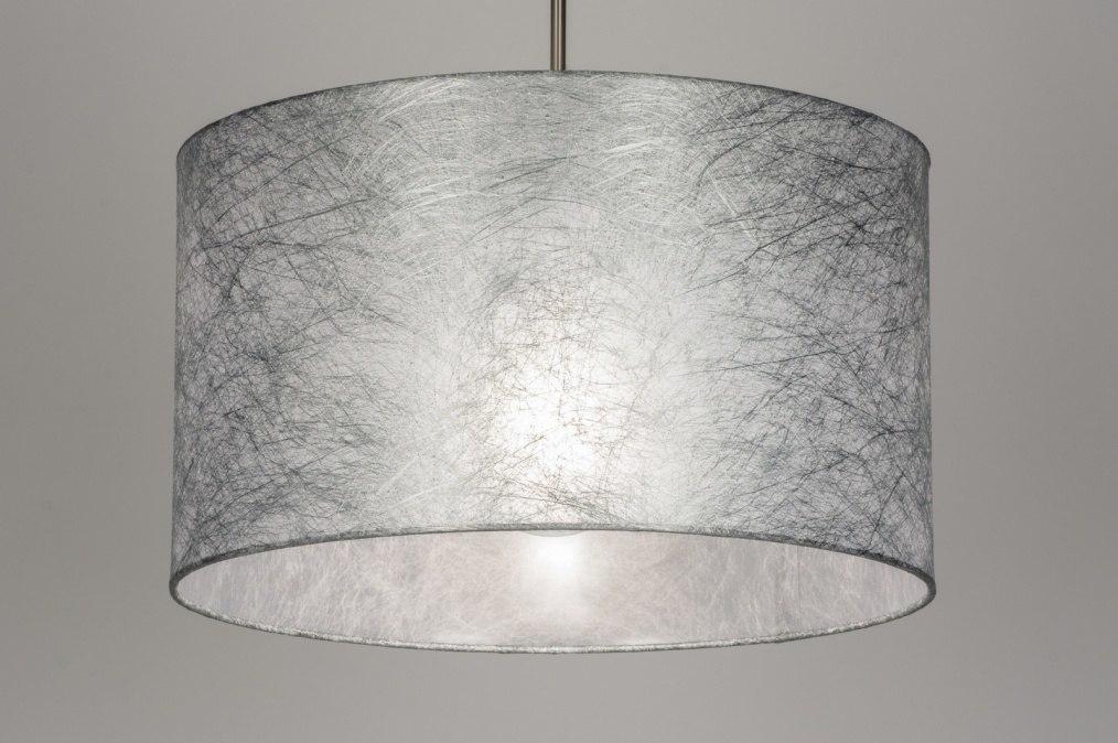 Hanglamp 72082: stof, grijs, zilvergrijs #0