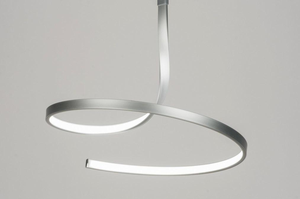 Hanglamp 72107: modern, design, aluminium, aluminium #0