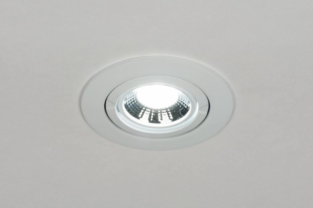 Spot Encastrable 72122 Moderne Acier Blanc Mat Rond