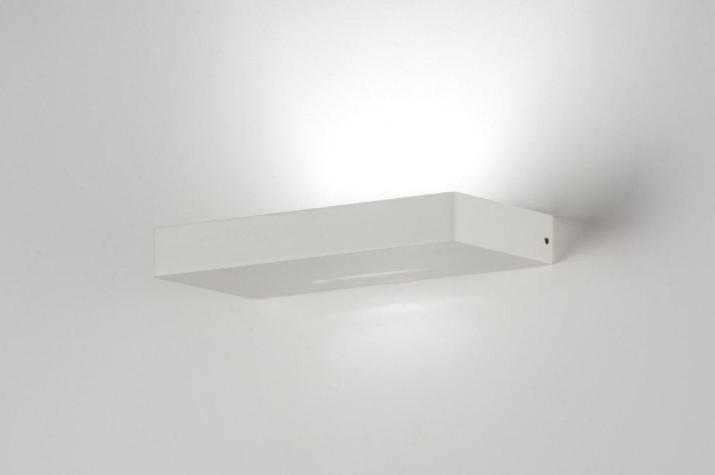 Wandlamp 72141: modern, design, wit, metaal #0