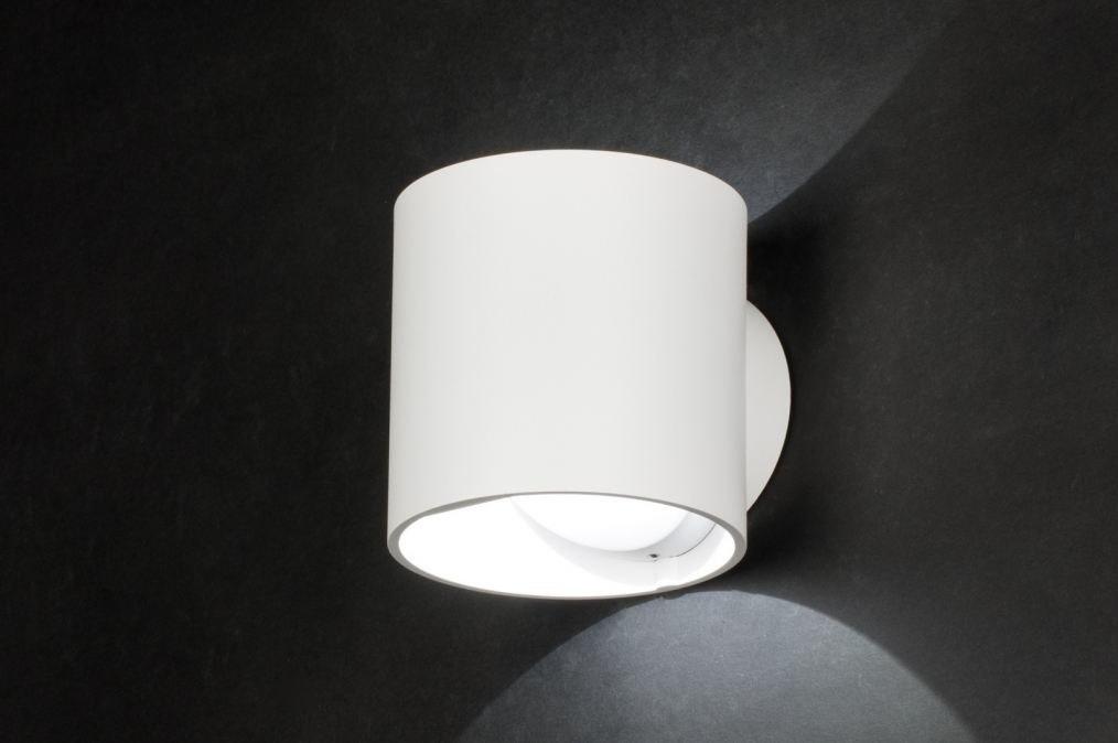 Wandlamp 72145: design, modern, aluminium, wit #0