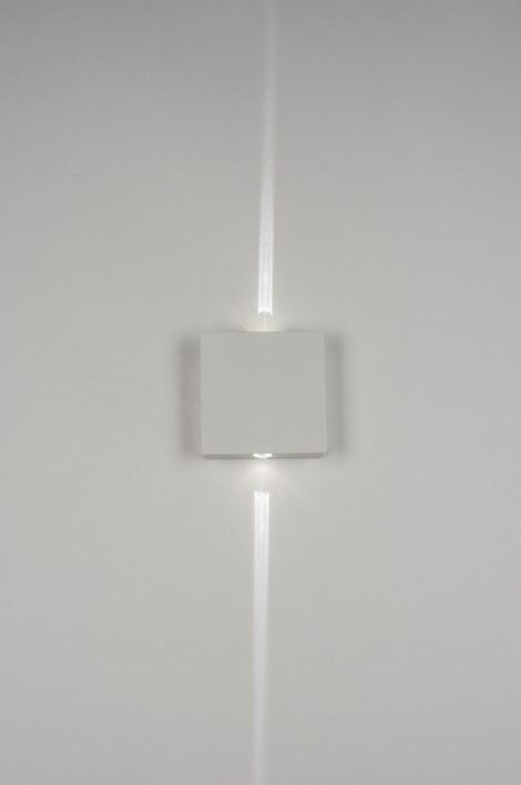 Wandlamp 72152: sale, modern, wit, mat #0