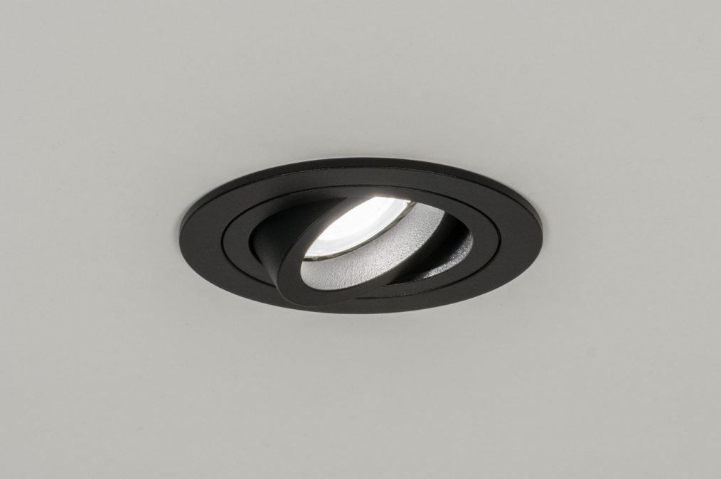Licht Spots Inbouw : Inbouwspot modern aluminium zwart mat