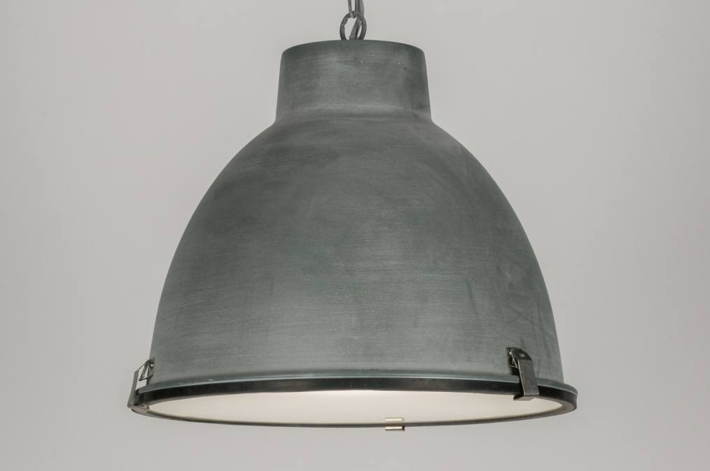 pendelleuchte 72229 industrielook aluminium rund. Black Bedroom Furniture Sets. Home Design Ideas