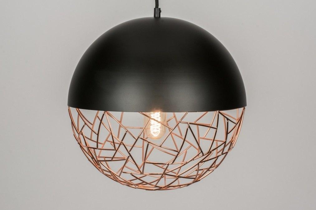 Hanglamp Voor Slaapkamer : Hanglamp modern retro koper roodkoper